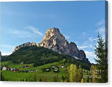 Canvas Print featuring the photograph Sassongher Tirol Northern Italy by Charles Lupica