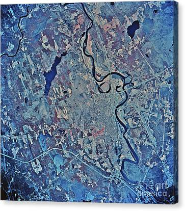 Satellite View Of Concord, New Canvas Print by Stocktrek Images
