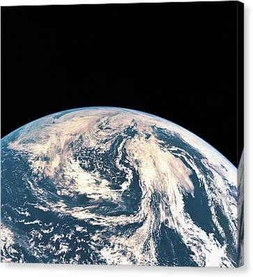Satellite View Of The Earths Surface Canvas Print by Stockbyte