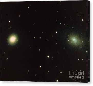 Satellites Of Andromeda Galaxy Canvas Print by Science Source