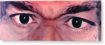 Sathya Sai Baba - Eyes Only Canvas Print by Anne Provost