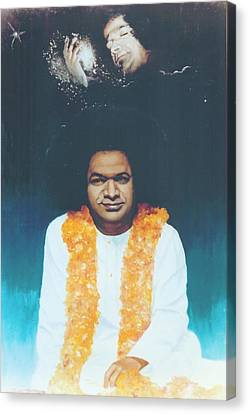 Sathya Sai Baba Divine Canvas Print by Anne Provost