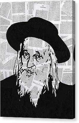 Satmar Rebbe Canvas Print by Anshie Kagan
