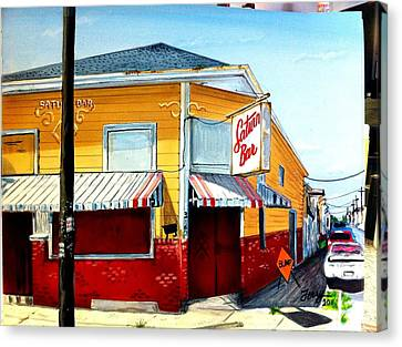 Saturn Bar Canvas Print by Terry J Marks Sr