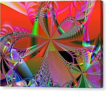 Canvas Print featuring the digital art Saucy Bows by Ann Peck