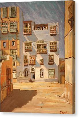 Saudi Old Jeddah 01 Canvas Print by Yvonne Ayoub