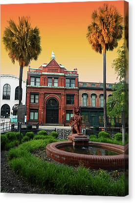 Savannah Cotton Exchange Canvas Print by Paul Mashburn