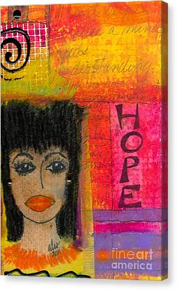 Save My Weeping Heart Canvas Print by Angela L Walker