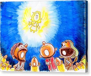 Saviour Has Come To Birth Canvas Print by Masahiro Tajima
