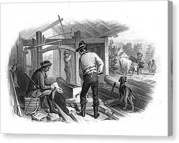Sawmill, C1870 Canvas Print by Granger