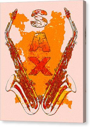 Sax Canvas Print by David G Paul