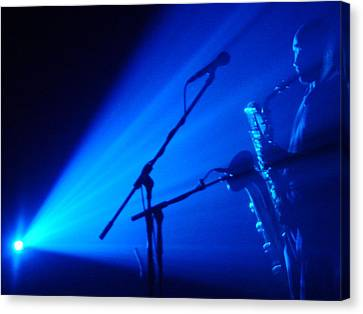 Sax In Blue Canvas Print by Anthony Citro