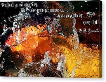 Say It Hot Canvas Print by Elizabeth Hart