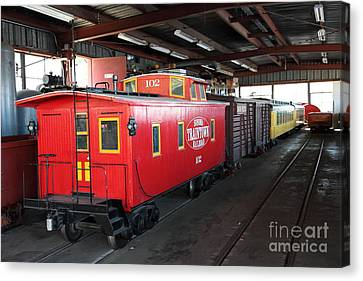 Traintown Canvas Print - Scale Caboose - Traintown Sonoma California - 5d19240 by Wingsdomain Art and Photography