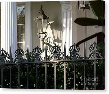 Canvas Print featuring the photograph Scallop Fence by Jeanne  Woods