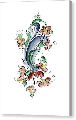 Scandinavian Flower I Canvas Print by Judy Dodds