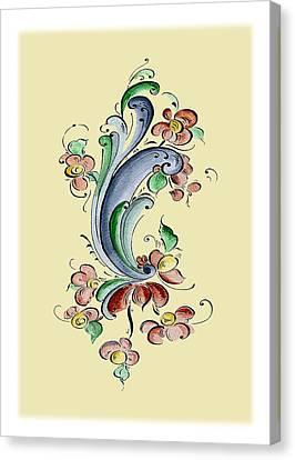 Scandinavian Flower II Canvas Print by Judy Dodds