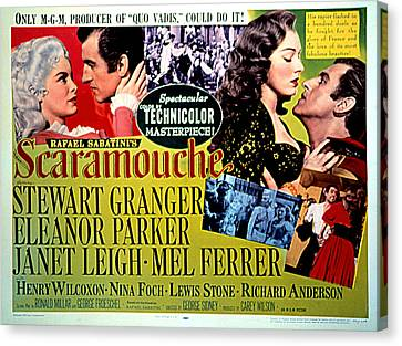 Scaramouche, Janet Leigh, Stewart Canvas Print by Everett