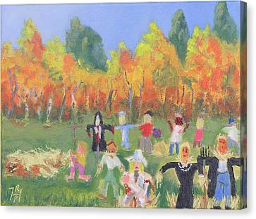 Scarecrow Contest Canvas Print by Robert P Hedden