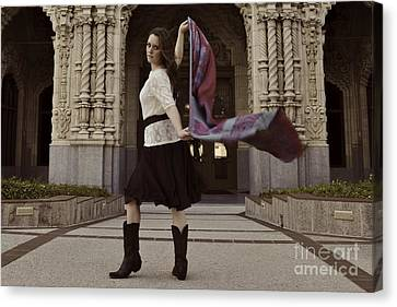 Canvas Print featuring the photograph Scarf Wrap by Sherry Davis