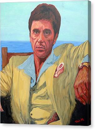 Scarface Canvas Print - Scarface - Tony Montana by Tom Roderick