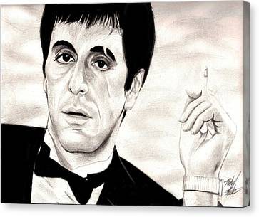 Scarface Canvas Print by Michael Mestas