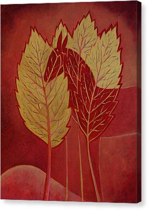 Canvas Print featuring the painting Scarlet Dream by Tone Aanderaa