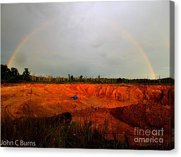 Canvas Print featuring the photograph Scarlet Pit by John Burns