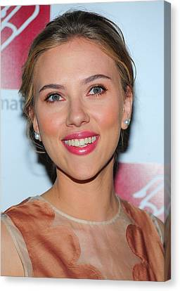 Scarlett Johansson At Arrivals For New Canvas Print by Everett