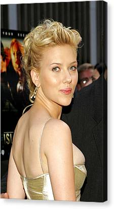 Scarlett Johansson Wearing Cartier Canvas Print by Everett