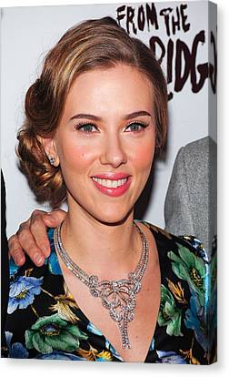 Opening Night Canvas Print - Scarlett Johansson Wearing Van Cleef & by Everett