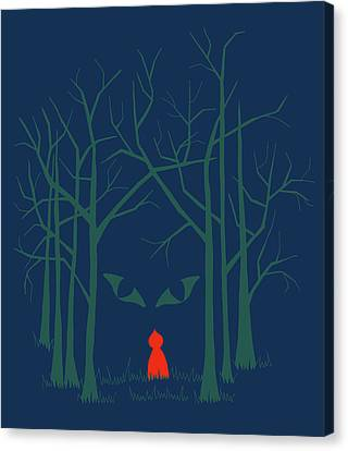 Scary Home Canvas Print by Illustrations