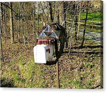 Canvas Print featuring the photograph Scary Mailbox 3 by Sherman Perry