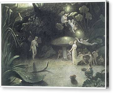 Scene From A Midsummer Night's Dream Canvas Print by Francis Danby
