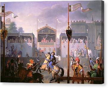 Scene Of A Tournament In The Fourteenth Century Canvas Print
