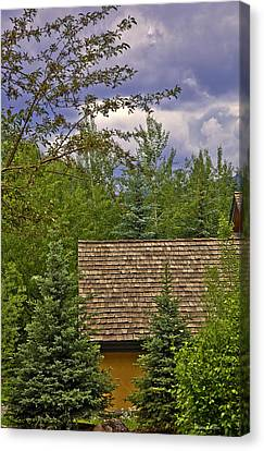 Scene Through The Trees - Vail Canvas Print by Madeline Ellis