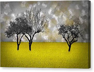 Modern Digital Art Digital Art Canvas Print - Scenery-art Landscape by Melanie Viola