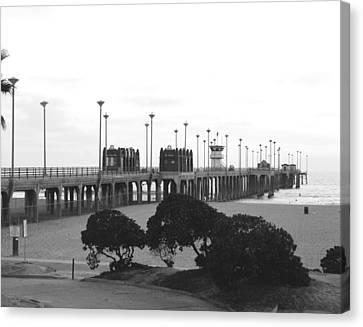 Scenes Of Los Angeles, Huntington Beach Canvas Print by Everett