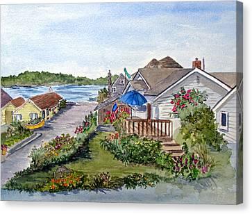 Scenic Avenue On Camano Island In Washington Canvas Print