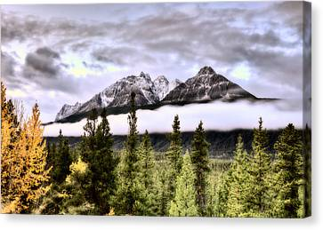 Scenic View Rocky Mountains Canvas Print by Mark Duffy