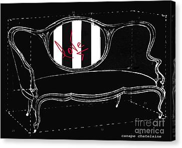 Schematic Love Juvenile Licensing Canvas Print by Anahi DeCanio