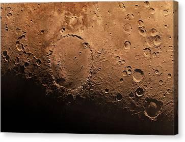 Schiaparelli Crater, Artwork Canvas Print