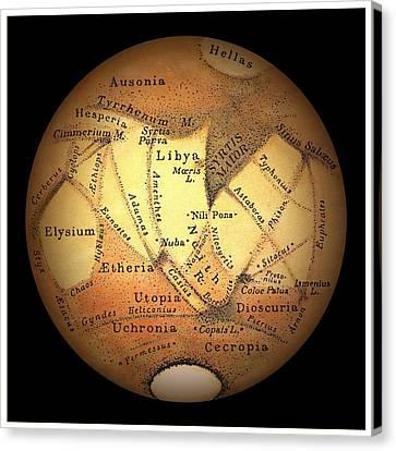 Schiaparelli's Observations Of Mars Canvas Print