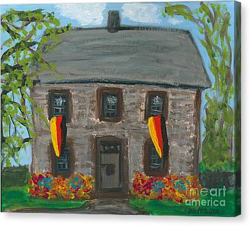 Schifferstadt Architectural Museum II Canvas Print by Ania M Milo