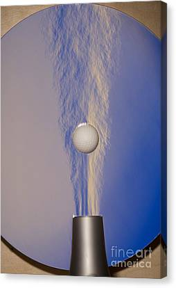 Schlieren Canvas Print - Schlieren Image Of A Hair Dryer And Ball by Ted Kinsman