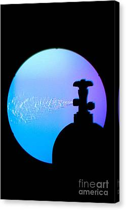 Schlieren Canvas Print - Schlieren Image Of Carbon Dioxide Gas by Ted Kinsman