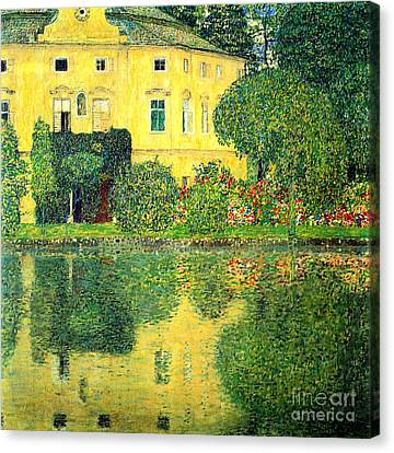 Schloss Kammer On The Attersee Canvas Print by Pg Reproductions