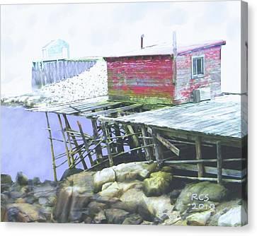 Schoodic Pier Canvas Print by Richard Stevens