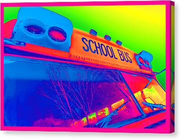 Crosswalk Canvas Print - School Bus by Gordon Dean II