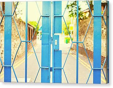 Schoolyard Canvas Print - School Gate by Tom Gowanlock
